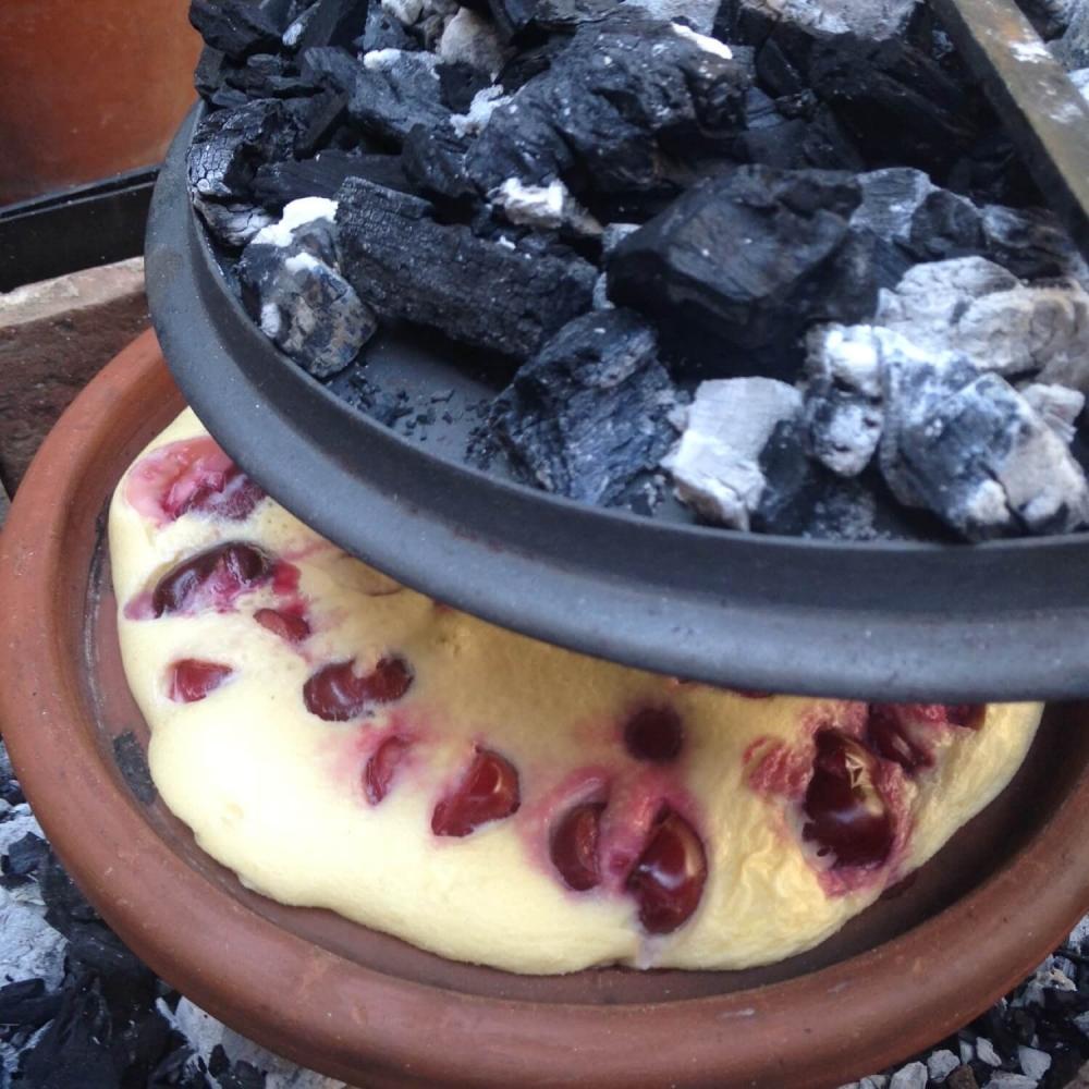 laatmiddeleeuwse eiersoufflé, bereid in het vuur voor Sint-Janstafele - Studiomie (Gent)
