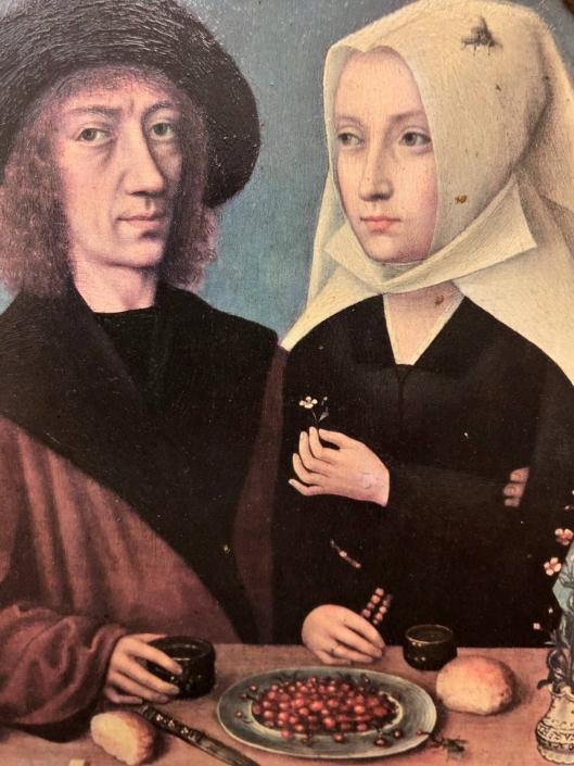1496 - Meester van Frankfurt - MSKA - reproductie op spaanplaat (rommelmarktvondst)